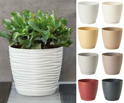 Plant Pot Cover Round 3D  Indoor Outdoor Succulent Plastic Drainage Holes Saucer • 7.99£