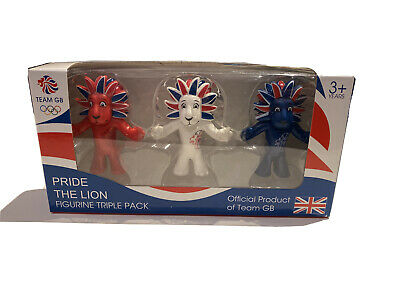 London 2012 Olympic Mascot: Pride The Lion Figurine Triple Pack • 9.99£