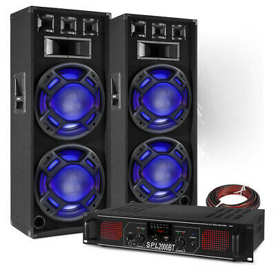 PA Speaker System With Bluetooth Amplifier Mobile Disco DJ BS-2X Double 15 Inch • 319£