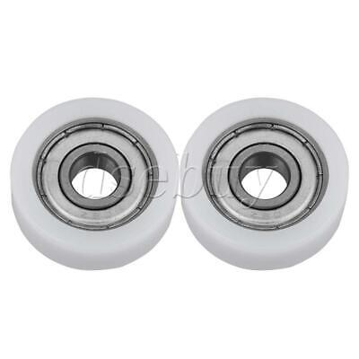 $6.90 • Buy 2 X Plastic Guide Pulley Sealed Rail Ball Hard Bearing Door Roller 8x28x10mm
