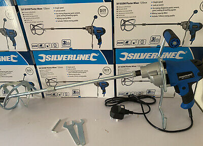 Silverline 850W Plaster Paint Cement Tiling Mixer 120mm Whisk DIY. 3 Yr Warranty • 40£