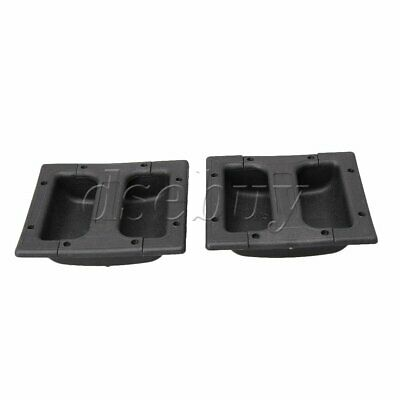 $ CDN17.29 • Buy 2 X Black Plastic Replacement Recessed Handle For Guitar Amp Cabinet Speaker