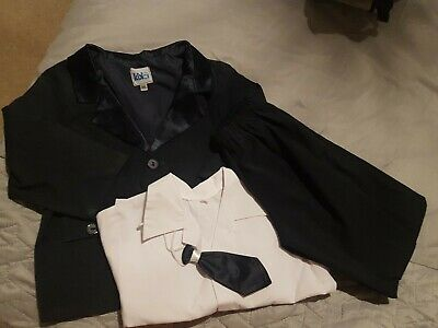 Navy Blue Boys Suit, Shirt And Tie. 12-18m • 2.50£