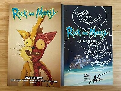 Rick And Morty Volume 11 Squanchy Variant SIGNED SKETCHED Ellerby Graphic Novel • 25£