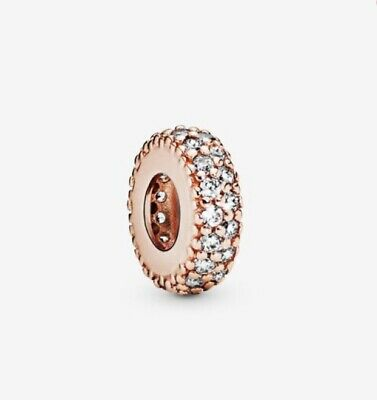 Pandora Rose Gold Clear Sparkle Spacer Charm  • 17£