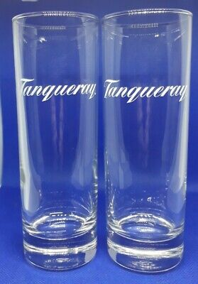 Pair Of Tanqueray Gin Long Glasses • 4.50£