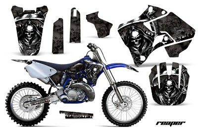 $79.95 • Buy Graphics Kit Sticker Decal Wrap For Yamaha YZ 125/250 1996-2001 REAPER BLACK