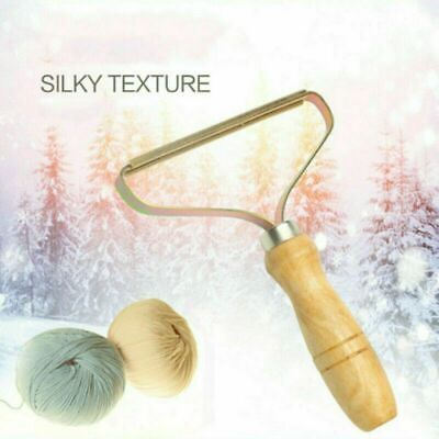 Wooden Manual Clothes Lint Pill Fluff Cleaner Remover Fabric Sweater Fuzz Shaver • 4.59£