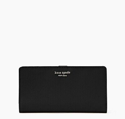 $ CDN69.85 • Buy 🌸 NWT Kate Spade Cameron Large Slim Bifold Wallet Leather Black New $149