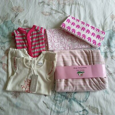 AU29 • Buy New Born Baby Girl Clothes And Blanket Warps 0-3 Months