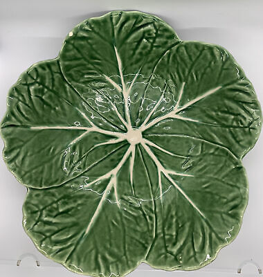 £24.84 • Buy Bordallo Pinheiro 9  Green Cabbage Leaf Serving Bowl, Made In Portugal