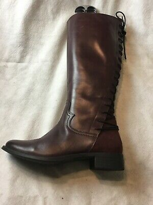 Laceys Of London Ladies Below Knees Boots UK Size 6 EU Size 39 Burgundy Leather • 9.99£