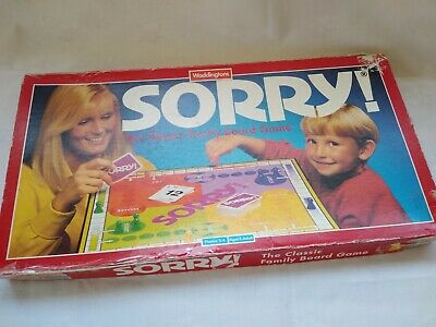 Sorry Classic Family Board Game Vintage 1994 Waddingtons. 2-4 Players Complete • 16.95£