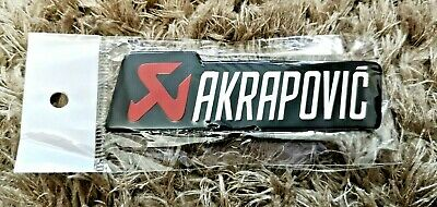 Akrapovic Silver Motorbike/ Motorcycle Heatproof Exhaust Sticker / Decal (small) • 5.75£