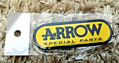 Arrow Yellow Motorbike / Motorcycle Heatproof Exhaust Sticker / Decal (small) • 5.75£