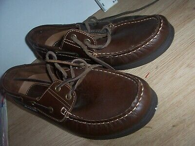 Mens Shoes. Yachtsman By Seafarer. Size 8. Brown • 9.99£
