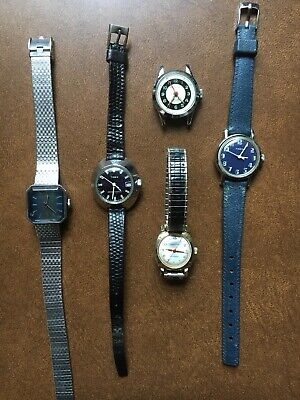 $ CDN30.16 • Buy Vintage Lot Of 5 1970s Ladies Mechanical Watches. (all Running)