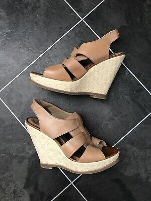 NEXT Leather Gladiator Wedge Heel Sandals Shoes Size 5  • 0.99£