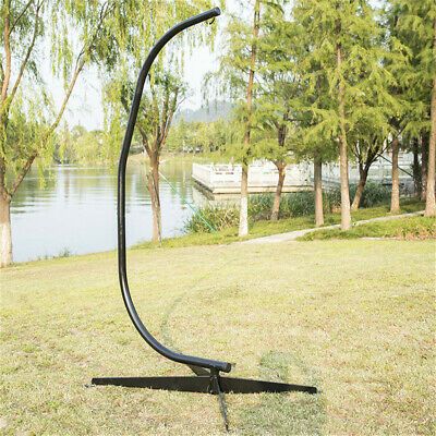 C Hammock Stand Frame Solid Steel Construction For Hanging Air Porch Swing Chair • 23£