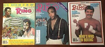 $10.99 • Buy Ring Magazine, Boxing, December 1976, October 1982, August 1987, Lot Of 3