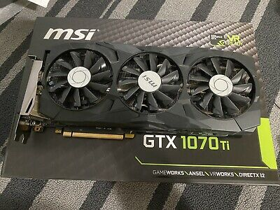 $ CDN350 • Buy MSI Gaming GeForce GTX 1070 Ti DUKE GDDR5 8GB TriFrozr 256-bit VR GPU