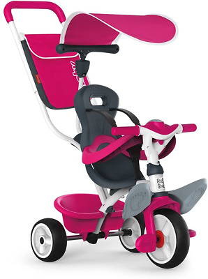 Smoby Push Along Toddler Trike With Headrest, Removable Parent Handle And Safety • 116.78£