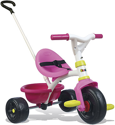 Smoby Push Along Trike With Parent Handle | Removable Handle Converts It To | | • 50.35£