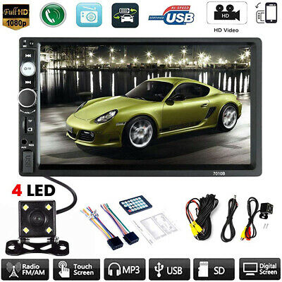 $74.85 • Buy Car MP5 Player 7  Double 2DIN Bluetooth Touch Screen Stereo Radio USB AUX Camera