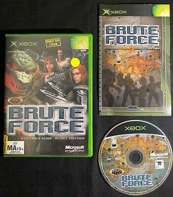 AU6.95 • Buy Brute Force Xbox Original PAL Game Complete Manual Tested & Working + FREE POST