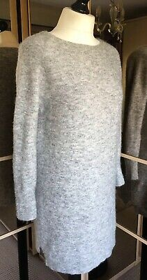 Mint Velvet Mid Grey Slouchy Knitted Jumper Dress  Size 12 RRP £99 EXCELLENT • 38£