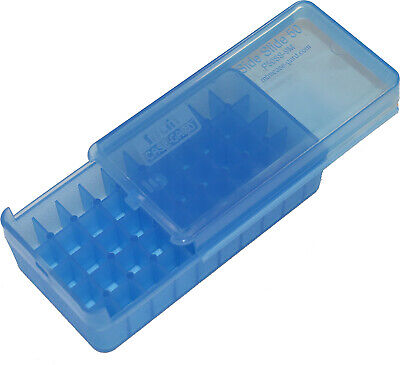 AU8.99 • Buy MTM Pistol Ammo Box 50 Round Side-Slide Top 9mm 380 ACP Clear Blue P50SS-9M-24