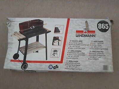 NEW Landmann 865 Charcoal Wagon BBQ Barbecue Windshield Rotisserie Skewer Red • 10.50£