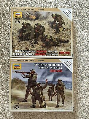 2 X Zvezda Kits, Unpainted Soldiers, British Infantry, 1:72, 1939 - 1945 • 2£