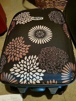 Hand Luggage. Frenzy.  Black And Brown Floral Design. In Excellent Condition. • 4.99£