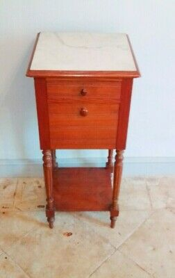 Antique French Bedside Cabinet, Louis XVI Style • 49£
