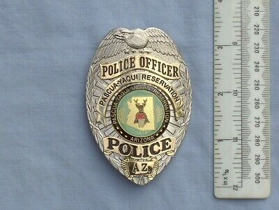Collectors Usa Police Badge Obsolete Pascua-yaqui Reservation Police Az Shield • 39£