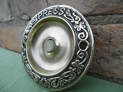 Large Decorative Victorian Solid Brass Push Bell Polished • 125£