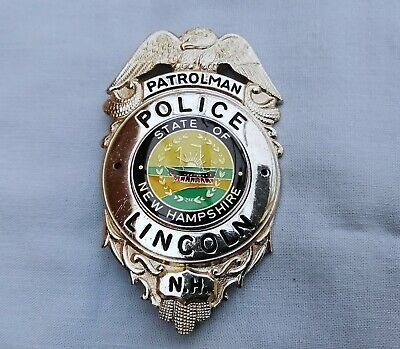 Collector Usa Police Badge Obsolete Lincoln Police Dept - New Hampshire - Shield • 39£