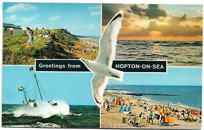 🍦 HOPTON-ON-SEA. Multi-view. V.g.c. (#550) • 1.40£