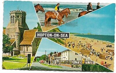 🍦 HOPTON-ON-SEA. Multi-view. V.g.c. (#807) • 1.40£