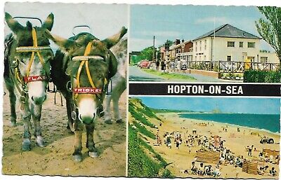 🍦 HOPTON-ON-SEA. Multi-view. V.g.c. (#831) • 1.40£