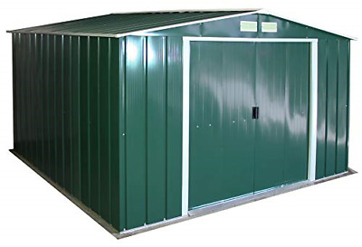 Duramax ECO 10' X 10' Hot-Dipped Galvanized Metal Garden Shed - Green With - 15 • 466.82£