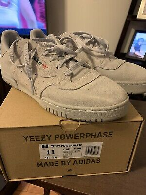 $ CDN171.37 • Buy Adidas Yeezy Powerphase Quiet Grey Suede Size 11 350 Blue Tint Zebra 500 700