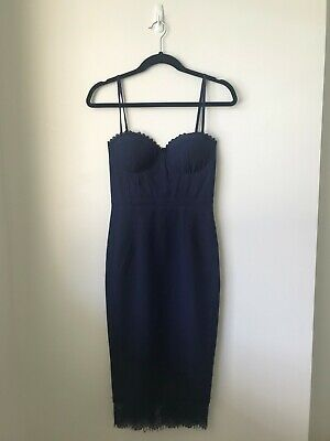 AU80 • Buy Elle Zeitoune Opal Dress In Navy   Size 6   Brand New With Tags   RRP $275