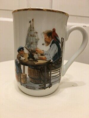 $ CDN6.58 • Buy Norman Rockwell Museum  For A Good Boy  Coffee Mug Tea Cup 4  (Gold Trim) 1982