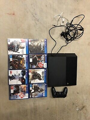 AU265 • Buy Sony PlayStation 4 PS4 Black 500 GB Console With 1 Controller And 8 Games