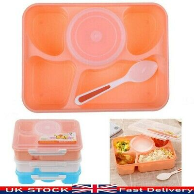 5 Cells Bento Lunch Box Leakproof For Kids With 5 Compartments Food Container UK • 6.29£