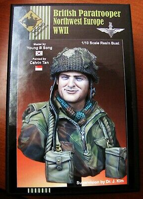 Notbuilt1/10 Or 1/9 Young Miniatures British Paratrooper Wwii Bust New. • 40£