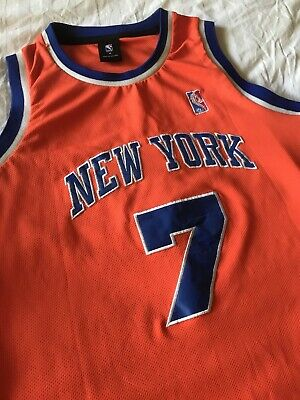AU22 • Buy NBA Jersey Mens Singlet Tank NEW YORK Sz M 100cm Chest No.7 ANTHONY Pre Owned
