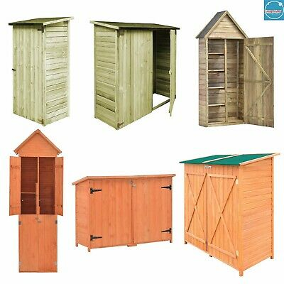 Garden Shed Wooden House Outdoor Store Cupboard Tool Storage Cabinet Log Cabin • 316.99£
